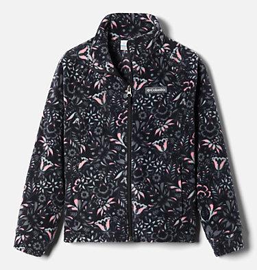 Girls' Benton Springs™ II Printed Fleece Jacket Benton Springs™ II Printed Fleece | 689 | L, Black Folk Floral Print, front