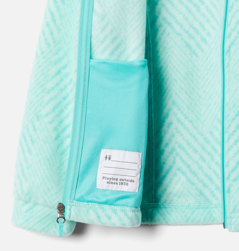 Benton Springs™ II Printed Fleece | 356 | L Girls' Benton Springs™ II Printed Fleece Jacket, Dolphin Chevron Print, a1