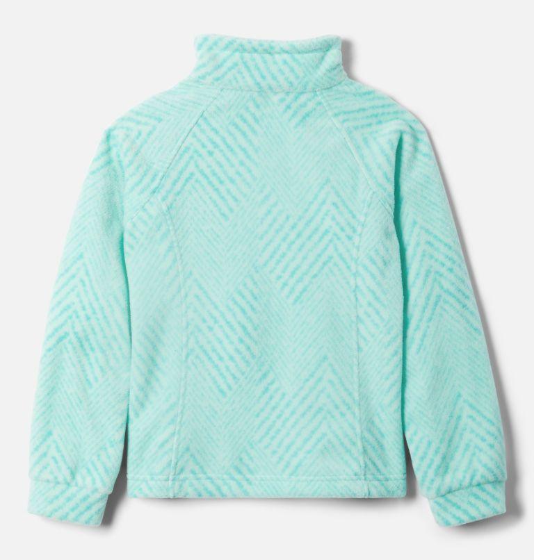 Benton Springs™ II Printed Fleece | 356 | L Girls' Benton Springs™ II Printed Fleece Jacket, Dolphin Chevron Print, back