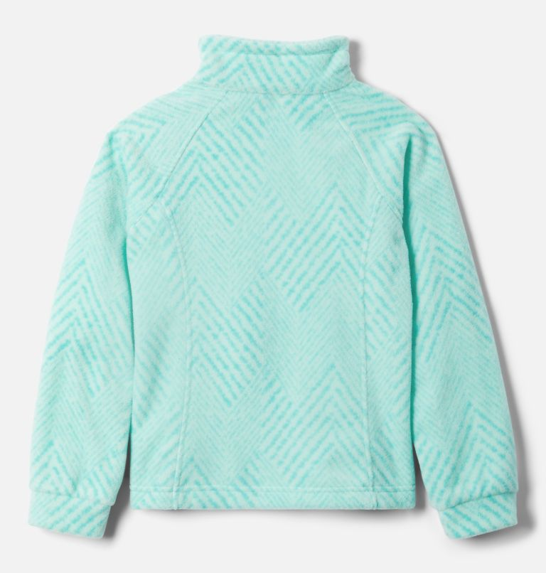 Benton Springs™ II Printed Fleece | 356 | S Girls' Benton Springs™ II Printed Fleece Jacket, Dolphin Chevron Print, back