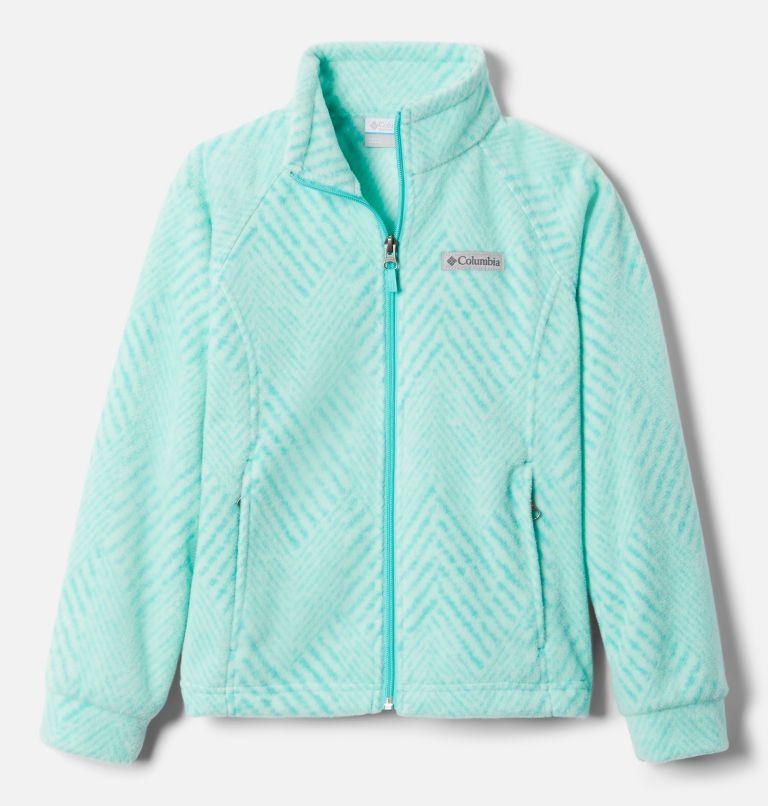 Benton Springs™ II Printed Fleece | 356 | S Girls' Benton Springs™ II Printed Fleece Jacket, Dolphin Chevron Print, front