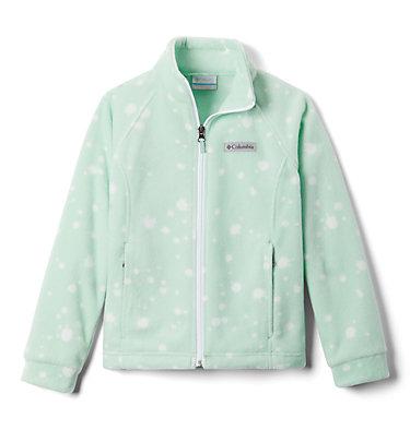 Girls' Benton Springs™ II Printed Fleece Jacket Benton Springs™ II Printed Fleece | 689 | L, New Mint Splattery Polkadot, front