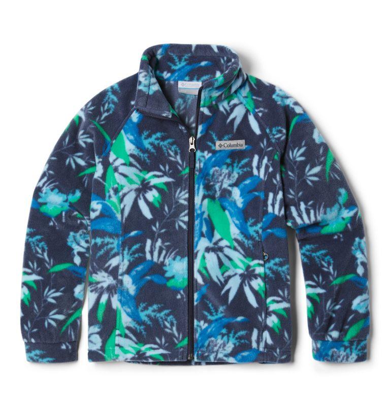 Benton Springs™ II Printed Fleece | 474 | L Girls' Benton Springs™ II Printed Fleece Jacket, Nocturnal Magnolia Floral, front