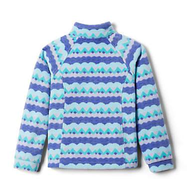 Girls' Benton Springs™ II Printed Fleece Jacket Benton Springs™ II Printed Fleece | 689 | L, African Violet Striped Peaks, back