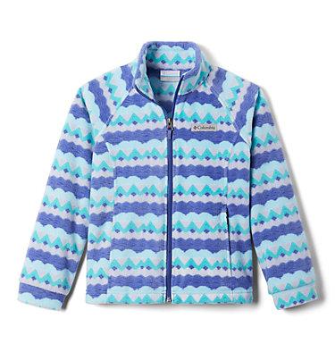 Girls' Benton Springs™ II Printed Fleece Jacket Benton Springs™ II Printed Fleece | 689 | L, African Violet Striped Peaks, front