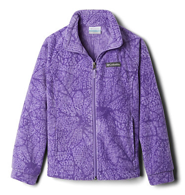 Girls' Benton Springs™ II Printed Fleece Jacket Benton Springs™ II Printed Fleece | 689 | L, Paisley Purple Flowers, front