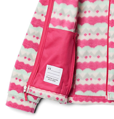 Girls' Benton Springs™ II Printed Fleece Jacket Benton Springs™ II Printed Fleece | 689 | L, Cactus Pink Striped Peaks, a1
