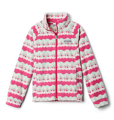 Girls' Benton Springs™ II Printed Fleece Jacket Benton Springs™ II Printed Fleece | 689 | L, Cactus Pink Striped Peaks, front