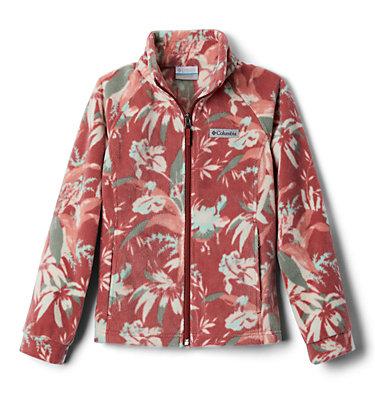 Girls' Benton Springs™ II Printed Fleece Jacket Benton Springs™ II Printed Fleece | 689 | L, Dusty Crimson Magnolia Floral, front