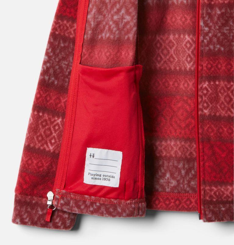 Benton Springs™ II Printed Fleece | 658 | S Girls' Benton Springs™ II Printed Fleece Jacket, Red Lily Fairisle Dot Print, a1