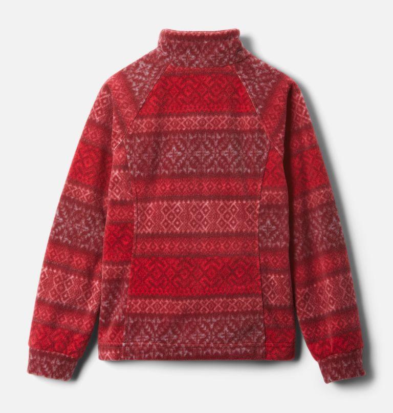 Benton Springs™ II Printed Fleece | 658 | S Girls' Benton Springs™ II Printed Fleece Jacket, Red Lily Fairisle Dot Print, back
