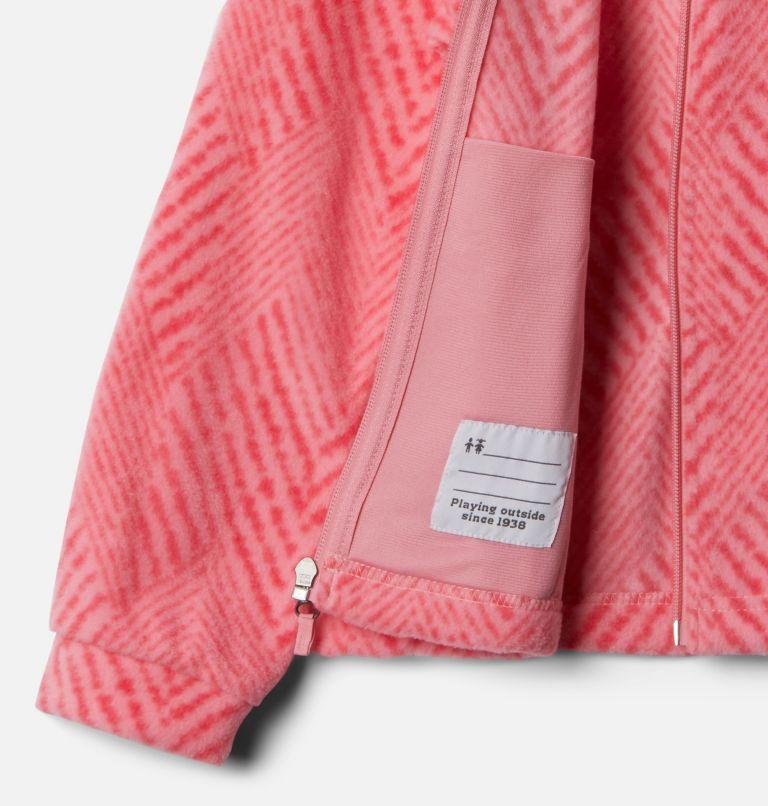Benton Springs™ II Printed Fleece | 689 | L Girls' Benton Springs™ II Printed Fleece Jacket, Pink Orchid Chevron Print, a1