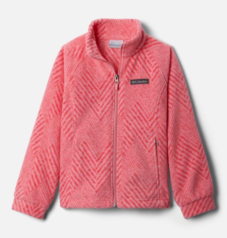 Benton Springs™ II Printed Fleece | 689 | XXS Girls' Benton Springs™ II Printed Fleece Jacket, Pink Orchid Chevron Print, front
