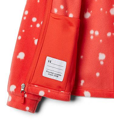 Girls' Benton Springs™ II Printed Fleece Jacket Benton Springs™ II Printed Fleece | 689 | L, Bright Poppy Splattery Polkadot, a1