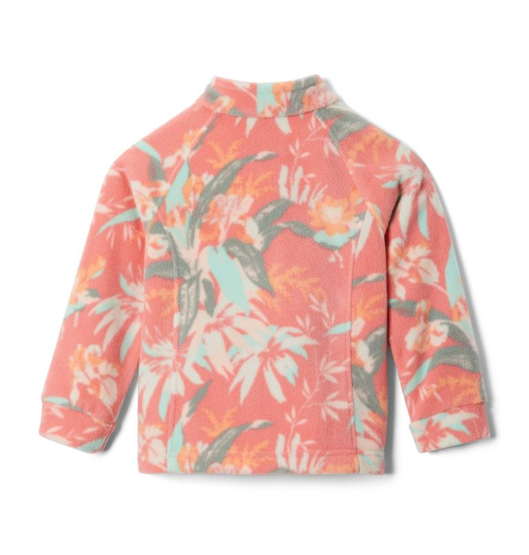 Benton Springs™ II Printed Fleece | 853 | L Girls' Benton Springs™ II Printed Fleece Jacket, Melonade Magnolia Floral, back