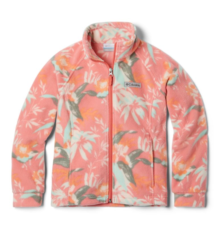 Benton Springs™ II Printed Fleece | 853 | L Girls' Benton Springs™ II Printed Fleece Jacket, Melonade Magnolia Floral, front