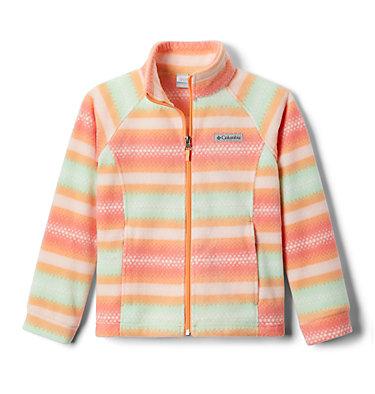 Girls' Benton Springs™ II Printed Fleece Jacket Benton Springs™ II Printed Fleece | 689 | L, Bright Nectar Bubble Stripes, front