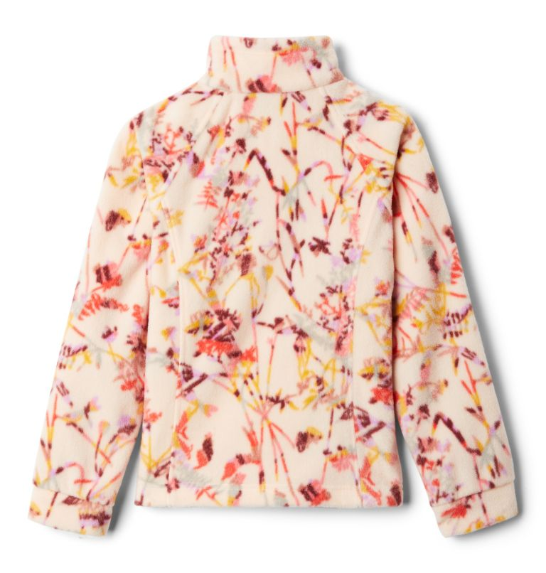 Benton Springs™ II Printed Fleece | 886 | XL Girls' Benton Springs™ II Printed Fleece Jacket, Peach Quartz Art Bouquet Multi, back