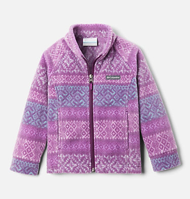 Girls' Toddler Benton Springs™ II Printed Fleece Jacket Benton Springs™ II Printed Fleece | 578 | 2T, Plum Fairisle Dot Print, front