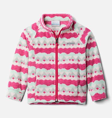 Girls' Toddler Benton Springs™ II Printed Fleece Jacket Benton Springs™ II Printed Fleece | 542 | 2T, Cactus Pink Striped Peaks, front