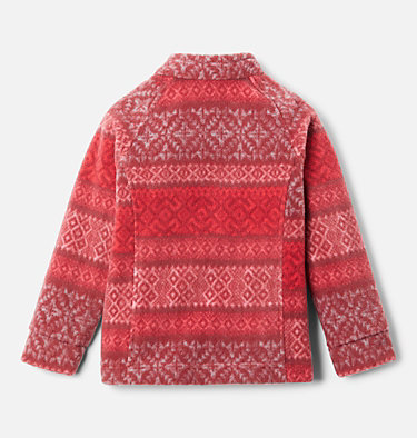 Girls' Toddler Benton Springs™ II Printed Fleece Jacket Benton Springs™ II Printed Fleece | 578 | 2T, Red Lily Fairisle Dot Print, back