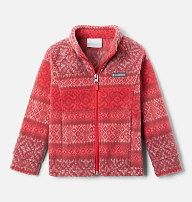 Girls' Toddler Benton Springs™ II Printed Fleece Jacket Benton Springs™ II Printed Fleece | 578 | 2T, Red Lily Fairisle Dot Print, front