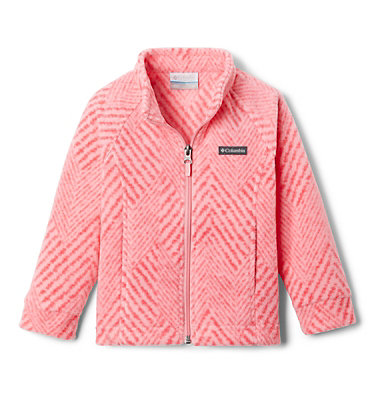 Girls' Toddler Benton Springs™ II Printed Fleece Jacket Benton Springs™ II Printed Fleece | 578 | 2T, Pink Orchid Chevron Print, front