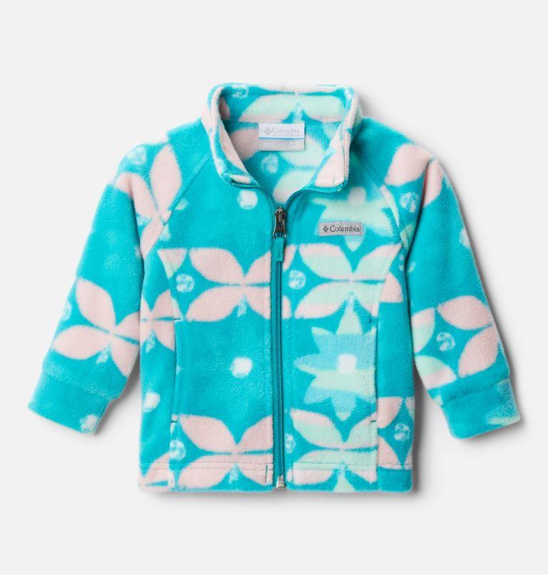 Benton Springs™ II Printed Fleece | 360 | 6/12 Girls' Infant Benton Springs™ II Printed Fleece Jacket, Tropic Water Nostalgia Floral, front