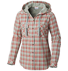 Women's Times Two™ Hooded Long Sleeve Shirt - Plus Size