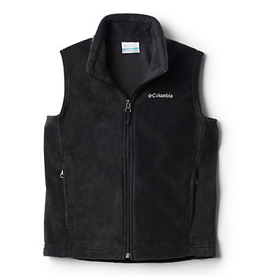 Boys' Steens Mountain™ Fleece Vest Steens Mtn™ Fleece Vest | 327 | M, Black, front