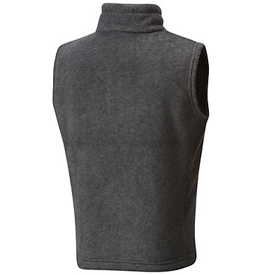 Boys' Steens Mountain™ Fleece Vest Steens Mtn™ Fleece Vest | 327 | M, Charcoal Heather, back