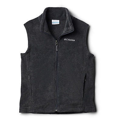 Boys' Steens Mountain™ Fleece Vest Steens Mtn™ Fleece Vest | 327 | M, Charcoal Heather, front