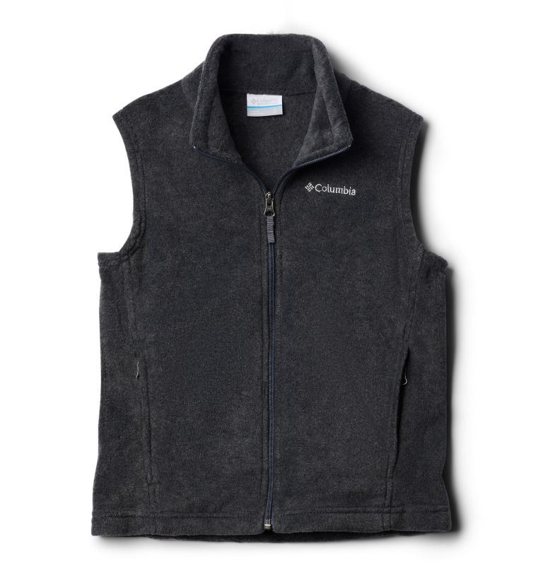 Steens Mtn™ Fleece Vest | 030 | XXS Boys' Steens Mountain™ Fleece Vest, Charcoal Heather, front