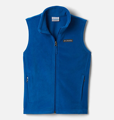 Boys' Steens Mountain™ Fleece Vest Steens Mtn™ Fleece Vest | 327 | M, Bright Indigo, front