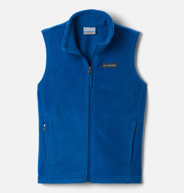Steens Mtn™ Fleece Vest | 432 | S Boys' Steens Mountain™ Fleece Vest, Bright Indigo, front
