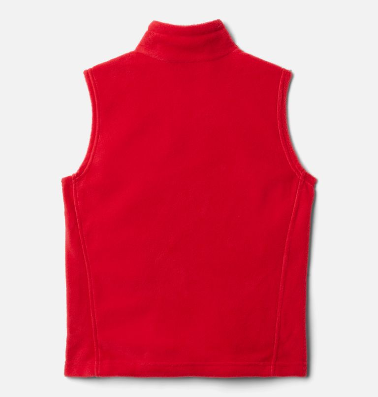 Steens Mtn™ Fleece Vest | 613 | XXS Boys' Steens Mountain™ Fleece Vest, Mountain Red, back