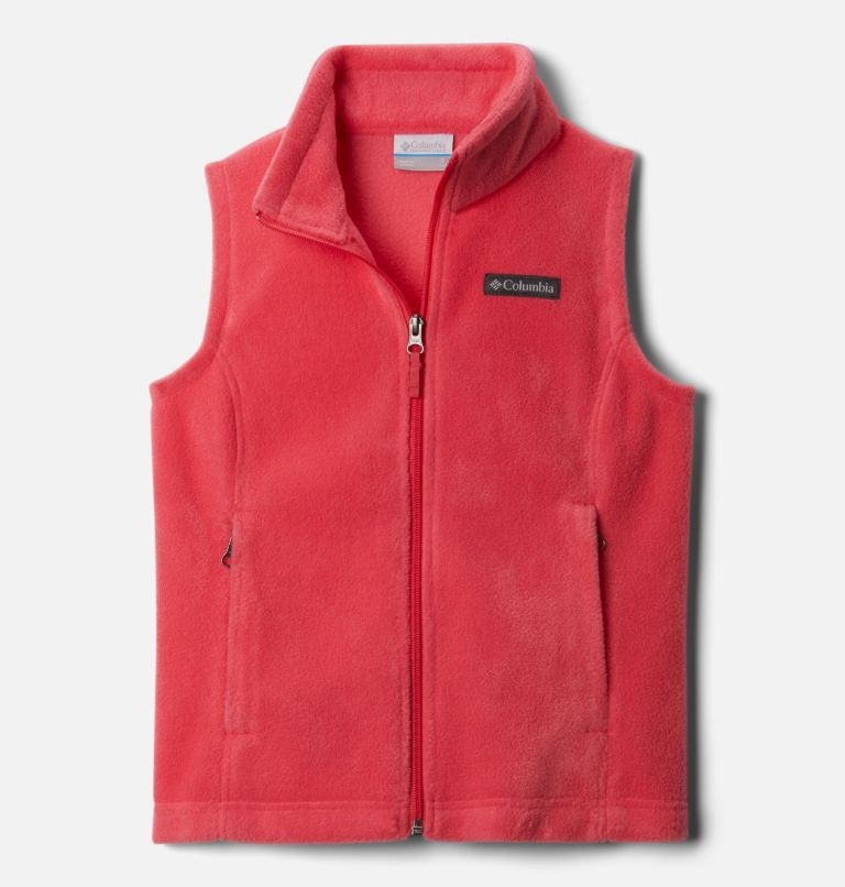Benton Springs™ Fleece Vest | 673 | XL Girls' Benton Springs™ Fleece Vest, Bright Geranium, front