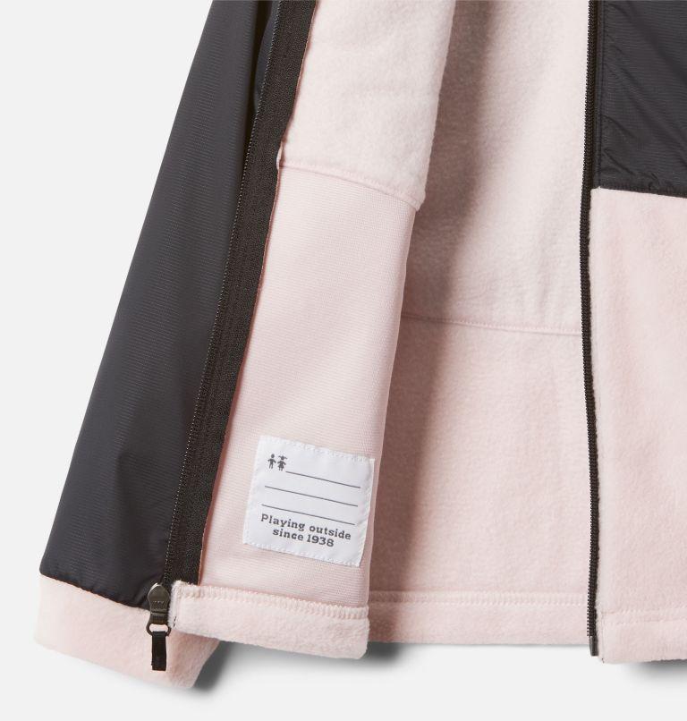 Benton Springs™ III Overlay Fleece | 618 | XS Girls' Benton Springs™ III Overlay Fleece Jacket, Mineral Pink, Black, a1