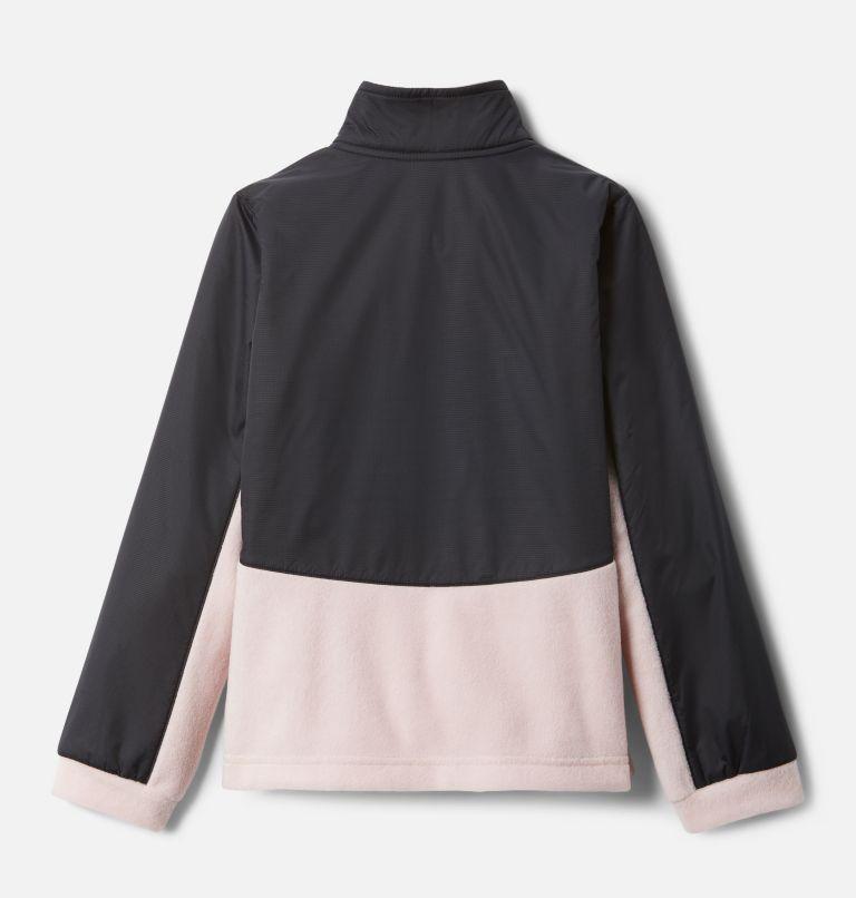 Benton Springs™ III Overlay Fleece | 618 | XS Girls' Benton Springs™ III Overlay Fleece Jacket, Mineral Pink, Black, back