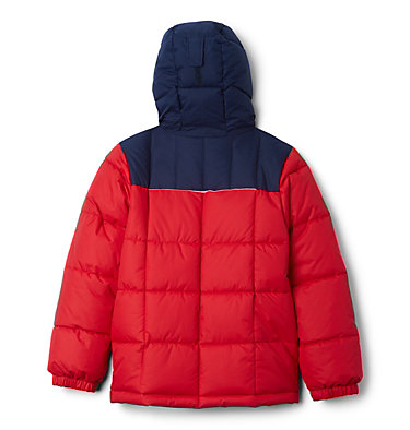 Boy's Gyroslope™ Ski Jacket Gyroslope™ Jacket | 010 | XS, Mountain Red, Collegiate Navy, back