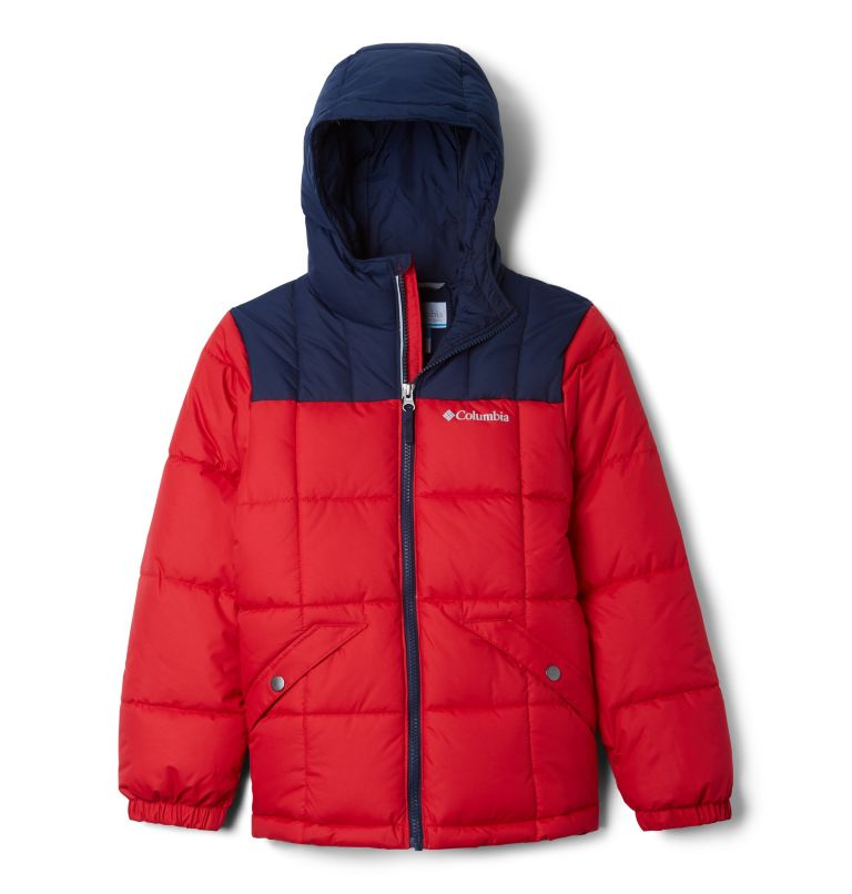 Gyroslope™ Jacket | 613 | M Boy's Gyroslope™ Ski Jacket, Mountain Red, Collegiate Navy, front