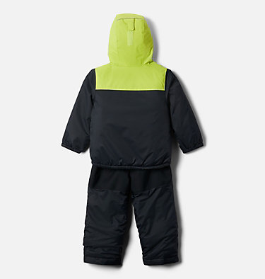 Toddler Double Flake™ Set Double Flake™ Set | 432 | 3T, Black, Bright Chartreuse, back