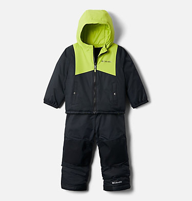 Toddler Double Flake™ Set Double Flake™ Set | 432 | 3T, Black, Bright Chartreuse, front