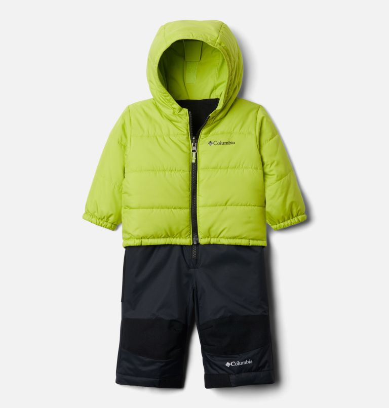 Double Flake™ Set | 010 | 6/12 Infant Double Flake™ Snow Set, Black, Bright Chartreuse, a1