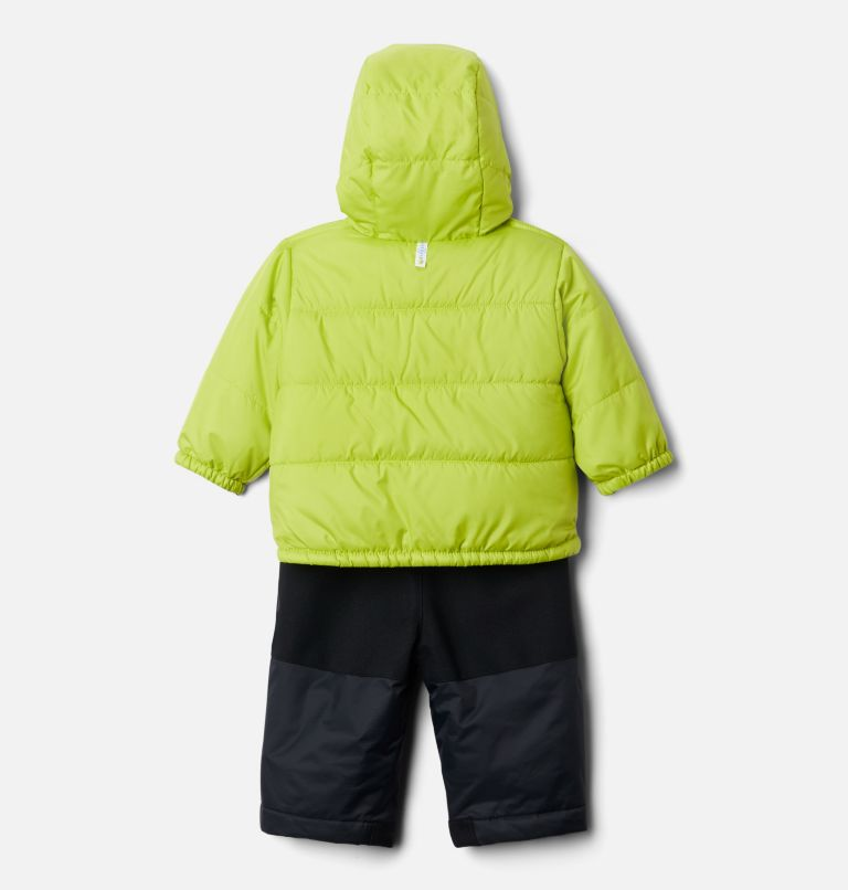 Double Flake™ Set | 010 | 6/12 Infant Double Flake™ Snow Set, Black, Bright Chartreuse, a2