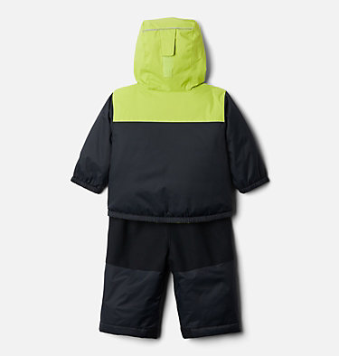 Infant Double Flake™ Snow Set Double Flake™ Set | 432 | 12/18, Black, Bright Chartreuse, back