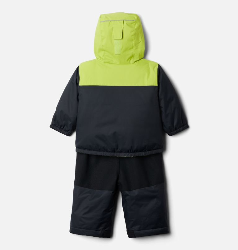 Double Flake™ Set | 010 | 6/12 Infant Double Flake™ Snow Set, Black, Bright Chartreuse, back