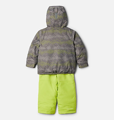 Toddler Buga™ Set Buga™ Set | 410 | 3T, City Grey Dotscape Print, Brt Chartreuse, back
