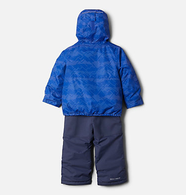 Toddler Buga™ Set Buga™ Set | 410 | 3T, Lapis Blue Dotscape Print, Plum, back
