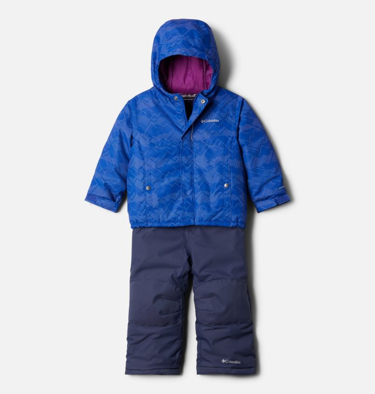 Buga™ Set | 410 | 4T Toddler Buga™ Set, Lapis Blue Dotscape Print, Plum, front